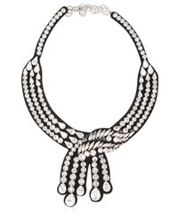 Shourouk | Legend Black Necklace | Lyst