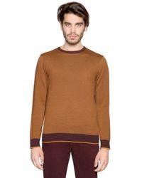 Etro   Orange Herringbone Wool Sweater for Men   Lyst