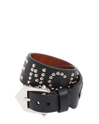 Givenchy | Black Studded Leather Wrap Bracelet | Lyst