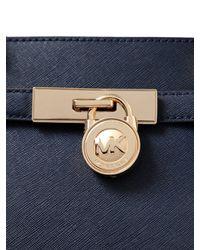 MICHAEL Michael Kors - Blue Hamilton Saffiano Leather Tote Bag - Lyst
