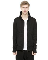 Alexandre Plokhov | Black Hooded Zip-up Bonded Jersey Sweatshirt for Men | Lyst