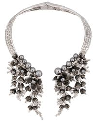 Schield | Metallic Cyborg Flowers Necklace | Lyst