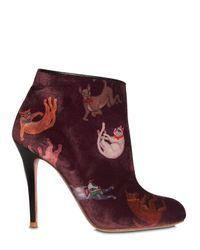 Camilla Elphick - Multicolor 105mm Raining Cats & Dogs Velvet Boots - Lyst
