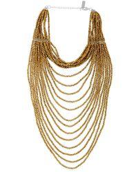 Night Market - Metallic Multi Strand Beaded Necklace - Lyst