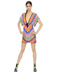 Missoni | Multicolor Zigzag Viscose Knit Dress | Lyst