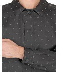 Christopher Kane | Black Heart Silk & Cotton Jacquard Shirt for Men | Lyst