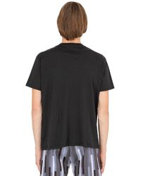 Christopher Kane - Black Reflective Printed Cotton Jersey T-shirt for Men - Lyst