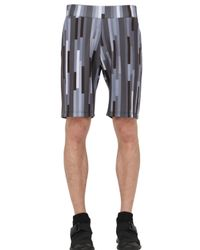 Christopher Kane | Gray 3d Bolster Printed Neoprene Shorts for Men | Lyst