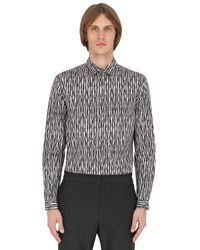 Christopher Kane | Gray 3d Bolster Printed Cotton Poplin Shirt for Men | Lyst
