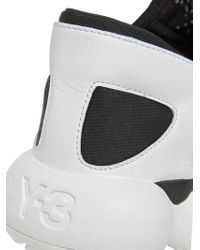 Y-3 - Black/white Kyujo Low Trainers for Men - Lyst