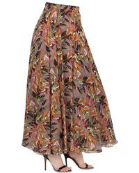 Larusmiani - Pink Printed Silk Maxi Skirt - Lyst