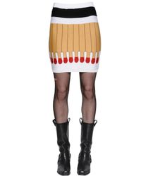 Moschino | Multicolor It's Lit Intarsia Wool Knit Skirt | Lyst