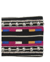 Isabel Marant - Black Embroidered Cotton Belt - Lyst