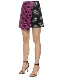 Caterina Gatta - Purple Floral Fil Coupe & Printed Cady Skirt - Lyst