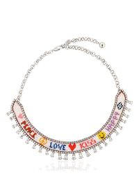 Shourouk - Red Happy Love Necklace - Lyst