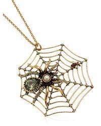Alcozer & J | Metallic Spider Necklace | Lyst