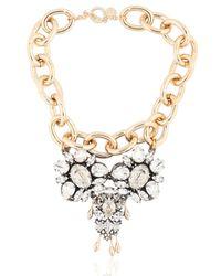 Anton Heunis | Metallic Swarovski Crystals Pygar Necklace | Lyst