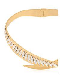 Ellen Conde - Metallic Crossover Swarovski Necklace - Lyst