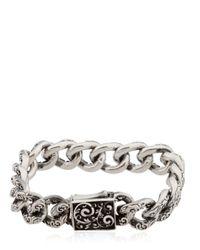 Cantini Mc Firenze | Metallic Engraved Chain Link Bracelet for Men | Lyst