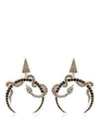 Roberto Cavalli | Metallic Embellished Snake Earrings | Lyst