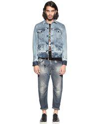 DIESEL - Blue 18cm Narrot Viscose Blend Denim Jeans for Men - Lyst