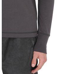 Bottega Veneta - Gray Long Sleeve Cotton Jersey T-shirt for Men - Lyst
