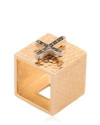 Schield | Metallic Charms Cross Ring | Lyst