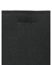 Ferragamo - Black Revival Embossed Leather Pouch for Men - Lyst