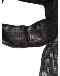 Cutuli Cult | Black Cotton Net & Ayers Snakeskin Scarf for Men | Lyst