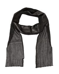 Cutuli Cult | Black Cotton Net & Ayers Snakeskin Scarf for Men | Lyst