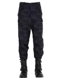 Faith Connexion | Black Oversized Cotton Cargo Pants for Men | Lyst