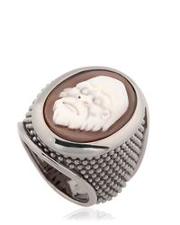 Amedeo | Black Thimble Cameo Ring for Men | Lyst