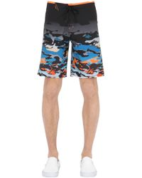 "Oakley - Black Shorts ""reverb"" In Nylon Stretch 18"" for Men - Lyst"