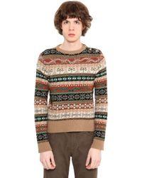 Roberto Cavalli | Multicolor Alpine Intarsia Wool Knit Sweater for Men | Lyst