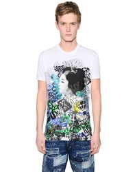 DSquared² | White Geisha Printed Washed Jersey T-shirt for Men | Lyst