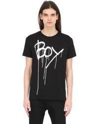 BOY London | Black Boy Drip Printed Jersey T-shirt for Men | Lyst