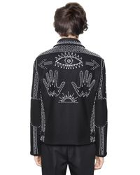 Valentino - Black Beads Embellished Wool Cloth Jacket for Men - Lyst