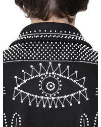 Valentino - Black Beads Embellished Wool Cloth Jacket for Men - Lyst