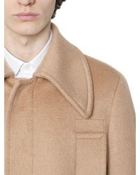 Valentino - Natural Wool Blend Cloth Coat for Men - Lyst