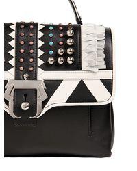 Paula Cademartori - White Petite Faye Studded Leather Bag W/fringe - Lyst