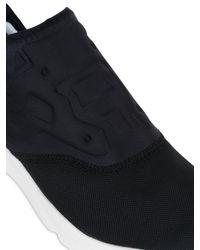Reebok - Black Furylite Nylon Slip-on Sneakers for Men - Lyst