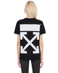 Off-White c/o Virgil Abloh | Black Arrow Printed Cotton Jersey T-shirt | Lyst
