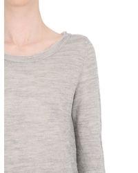 Transit - Gray Wool Blend Knit Sweater - Lyst