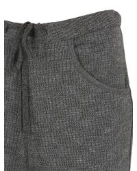 Transit - Gray Wool Blend Waffle Knit Pants - Lyst