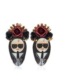 Bijoux De Famille   Multicolor Karl Rosary Earrings   Lyst