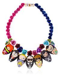 Bijoux De Famille - Multicolor Dia De Los Muertos Necklace - Lyst