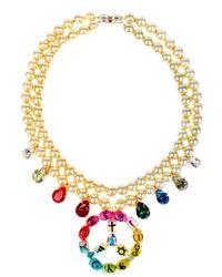 Bijoux De Famille - Multicolor Rainbow Holy Fashion Peace Necklace - Lyst