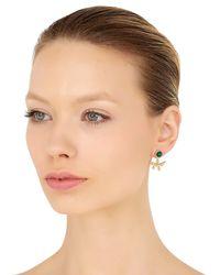 Eshvi | Green Lava Earrings With Drop Jacket | Lyst