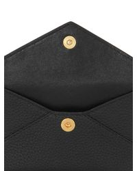 Alexander McQueen - Black Skull Grained Leather Card Holder - Lyst