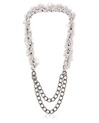Alienina | Gray Altrove Brass And Nylon Chain Necklace | Lyst